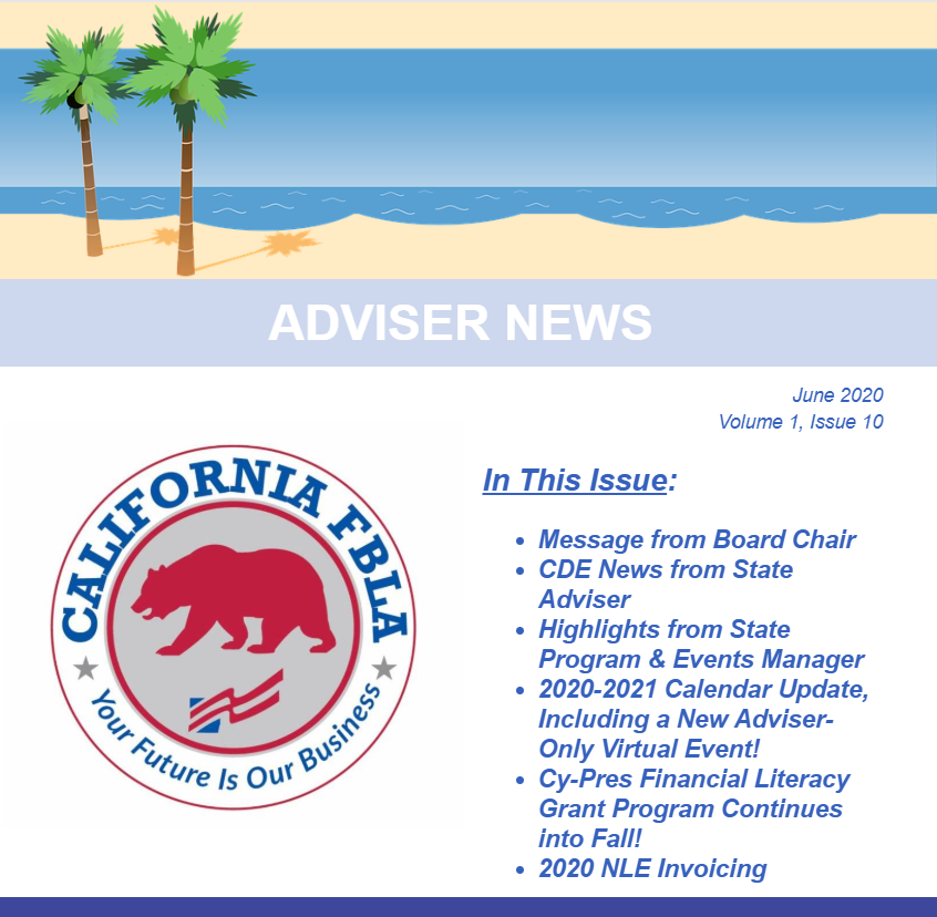 Adviser Newsletter