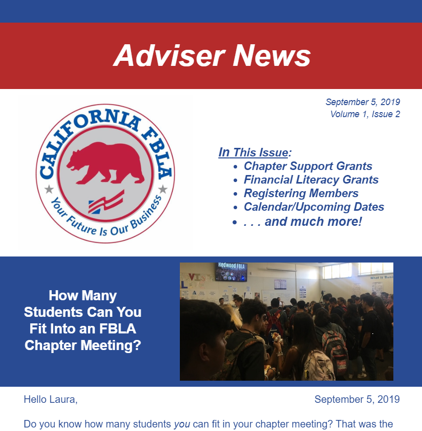 Adviser News - September 2019 Edition