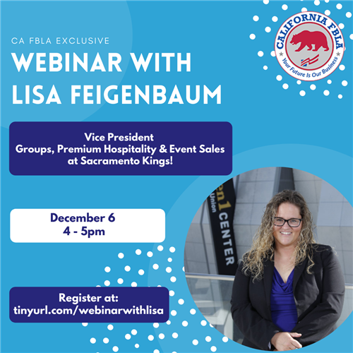 Join In for Next Webinar - Lisa Feigenbaum, VP at Sac Kings!