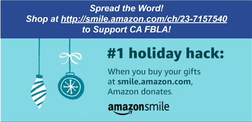 Amazon Smile Holiday Hack to Donate to CA FBLA
